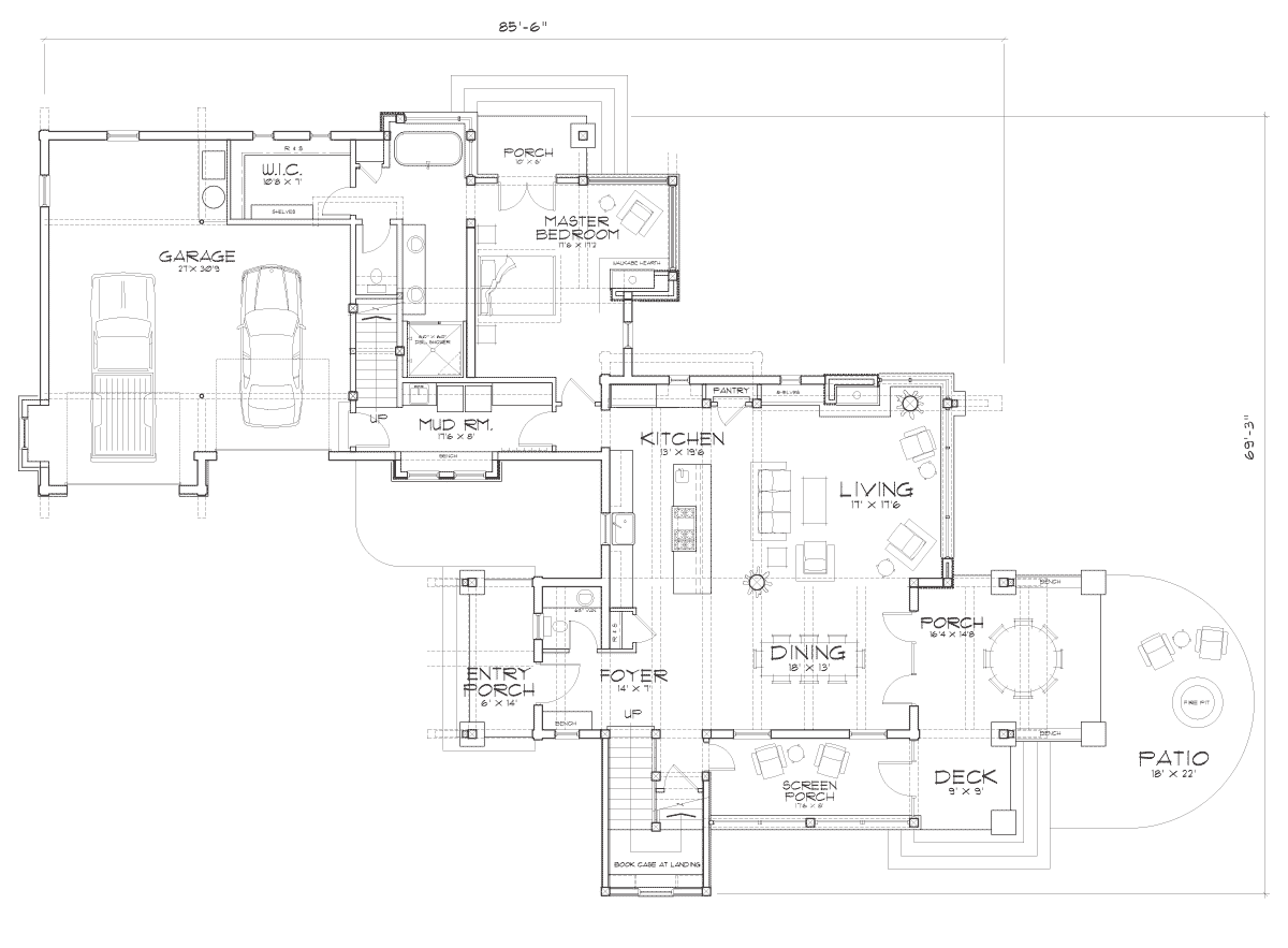 Idlewild Main Floor Plan
