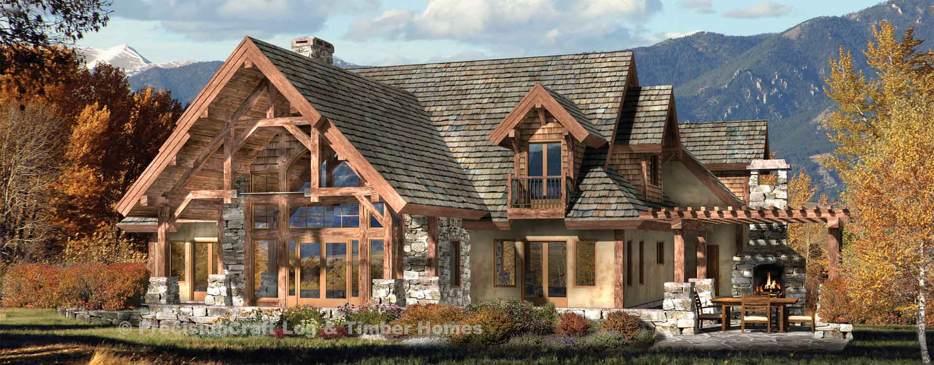 Timber Frame And Log Home Floor Plans By PrecisionCraft - Timber frame homes plans