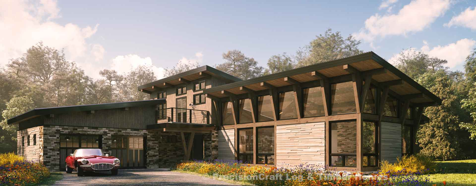 kirkwood modern timber frame floor plan