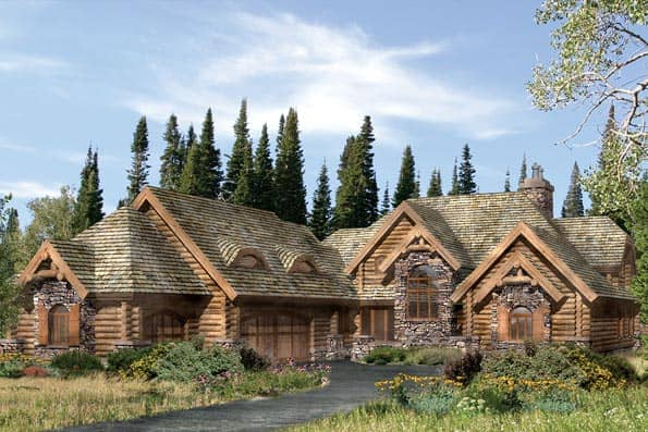 Lafayette Log Home Plan