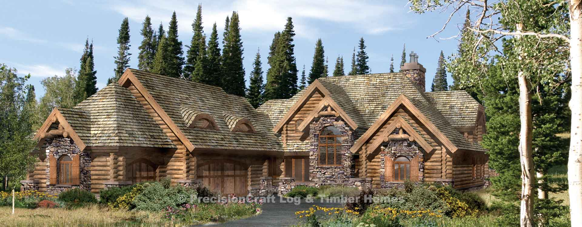 Timber Frame and Log Home Floor Plans - By PrecisionCraft