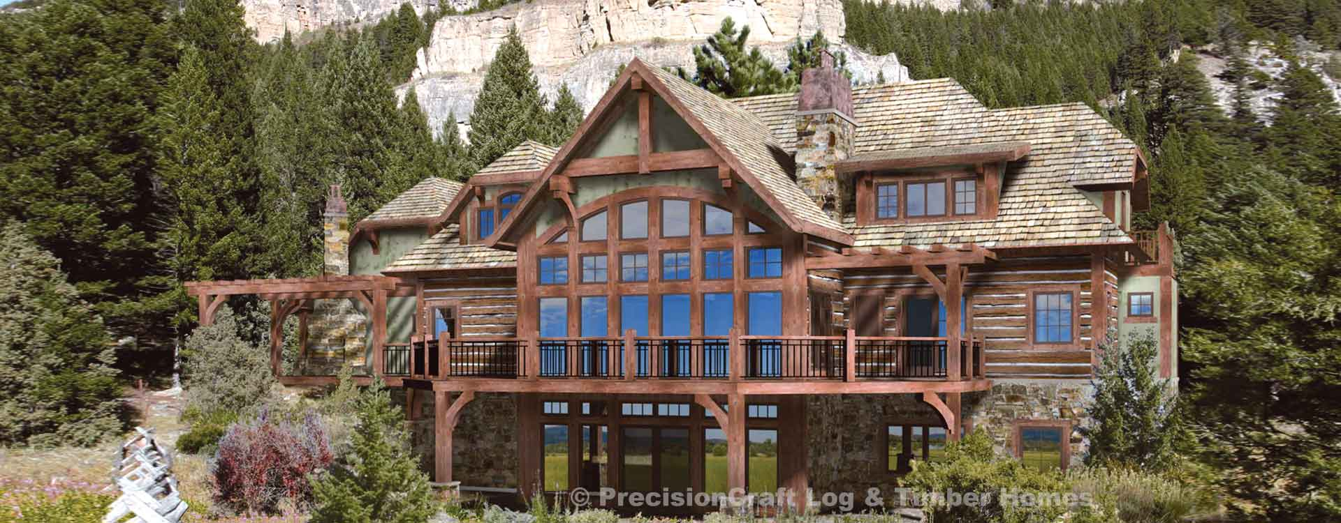 laurette chateau timber frame home plan