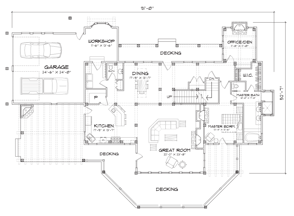 Laurette Chateau Main Floor Plan