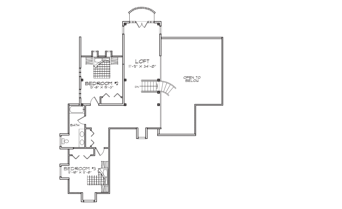 Montcliare Second Floor Plan