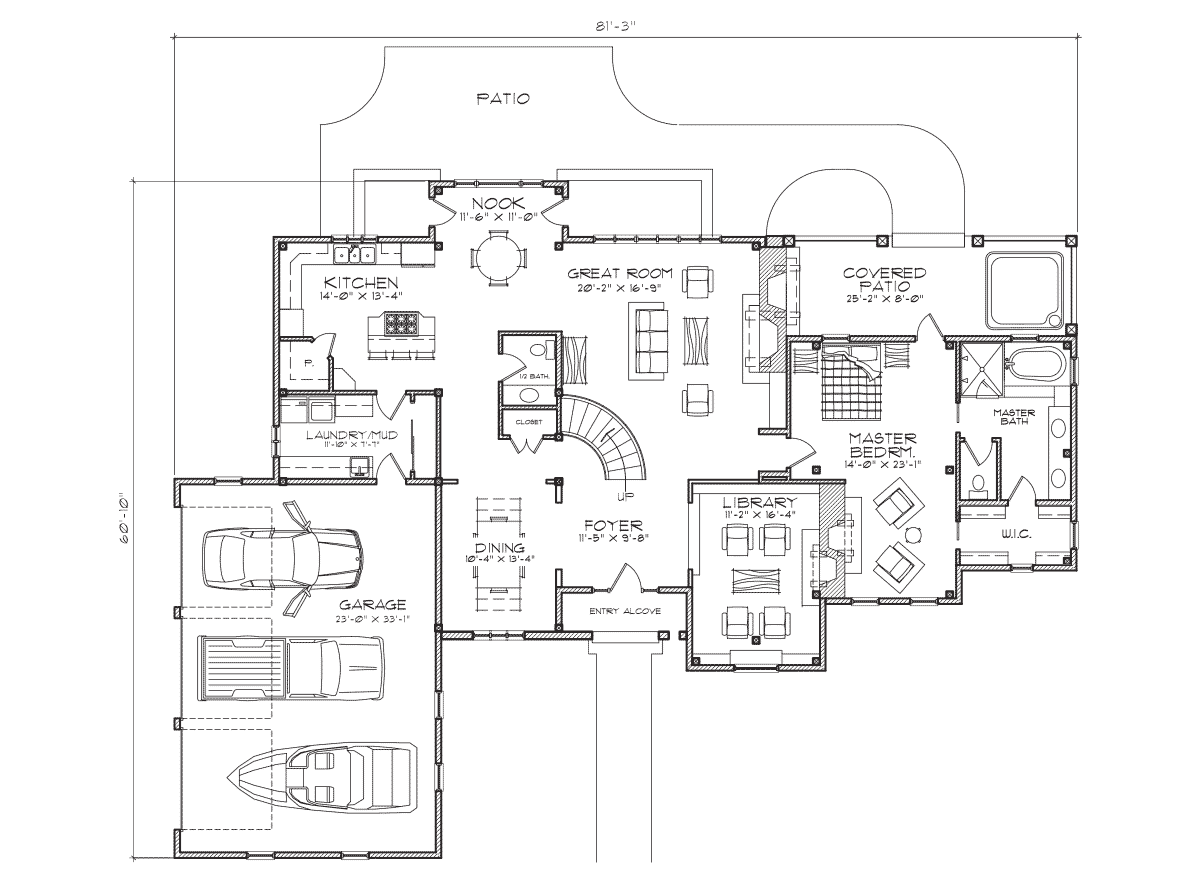 Montcliare Main Floor Plan
