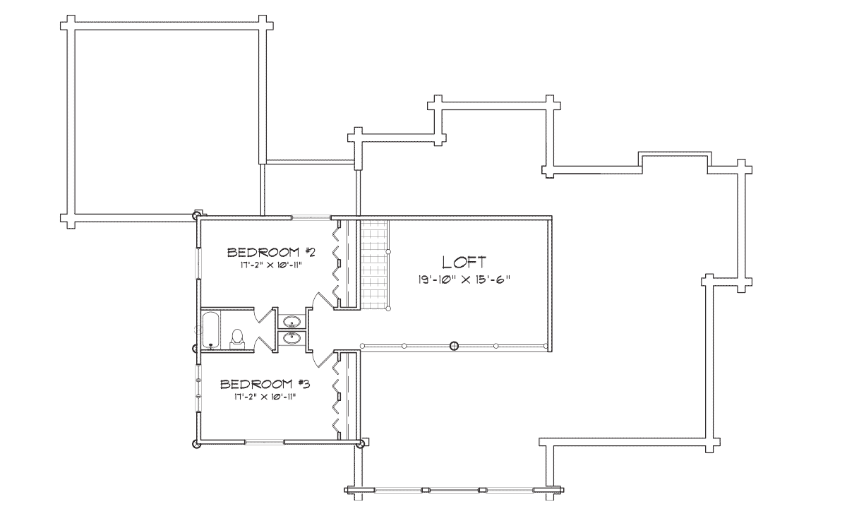 Peaks Lodge Second Floor Plan