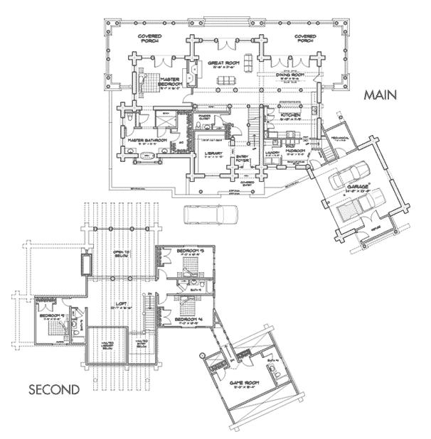 Magnificent Peaks Lodge Log Home Floor Plan Free Home Designs Photos Ideas  Pokmenpayus