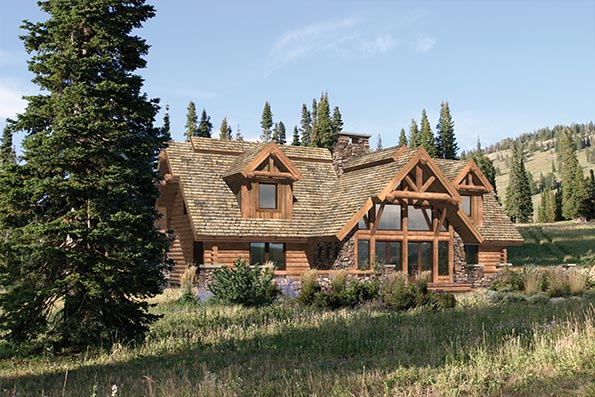 Timber and Log Home Floor Plans By PrecisionCraft