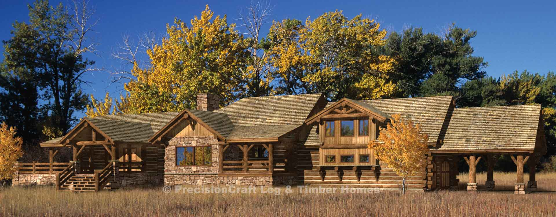 Prairie Hill Log Home Rendering