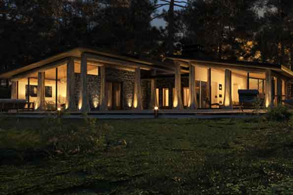 Timber frame and log home floor plans by precisioncraft for Open beam house plans