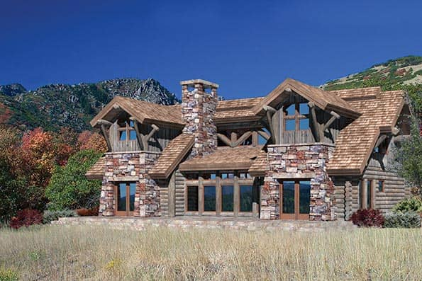 Rimrock Log Home Floor Plan