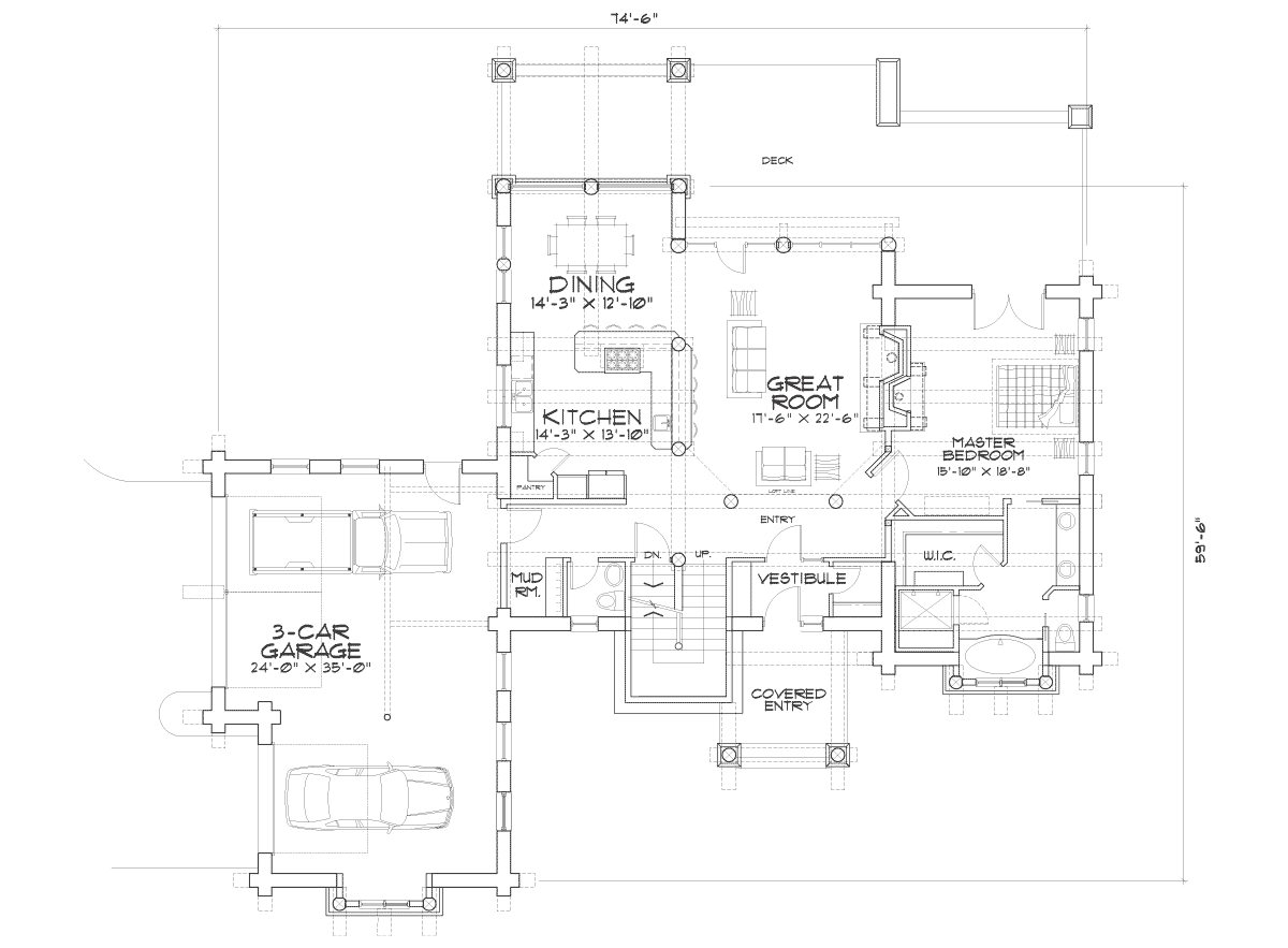 Roanoke Valley Main Floor Plan