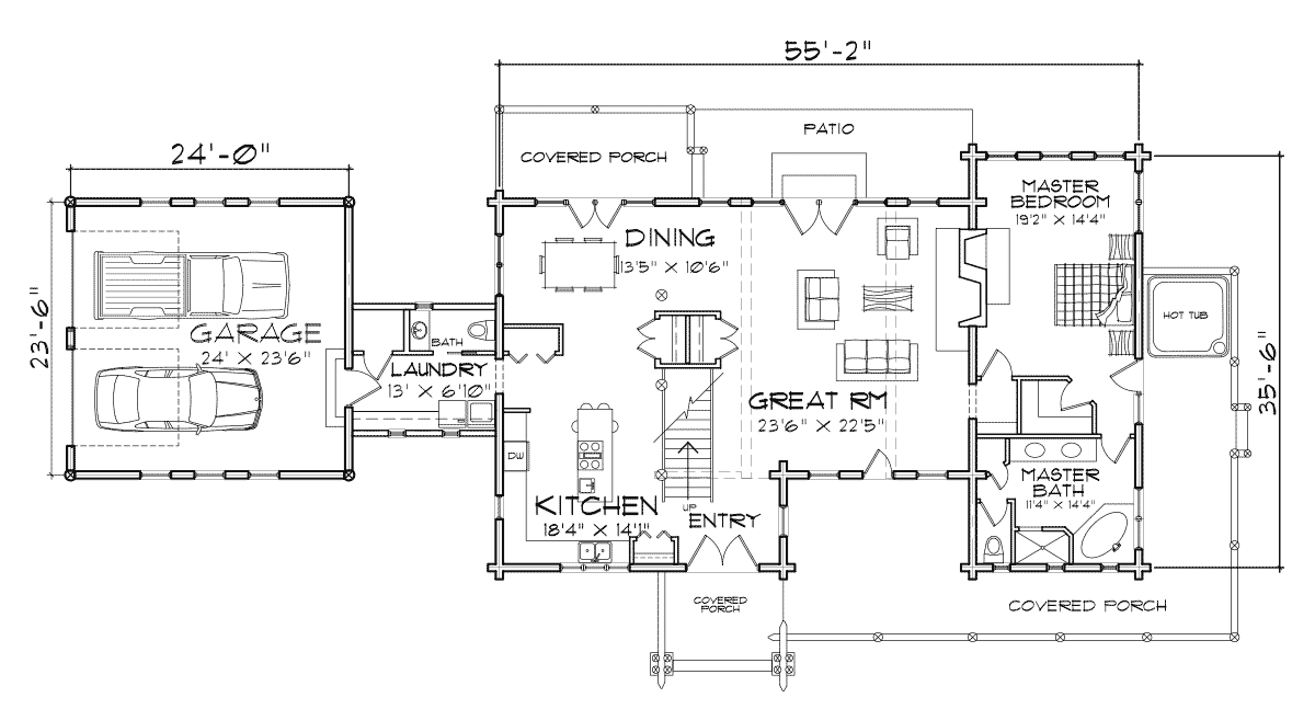 Saratoga Main Floor Plan