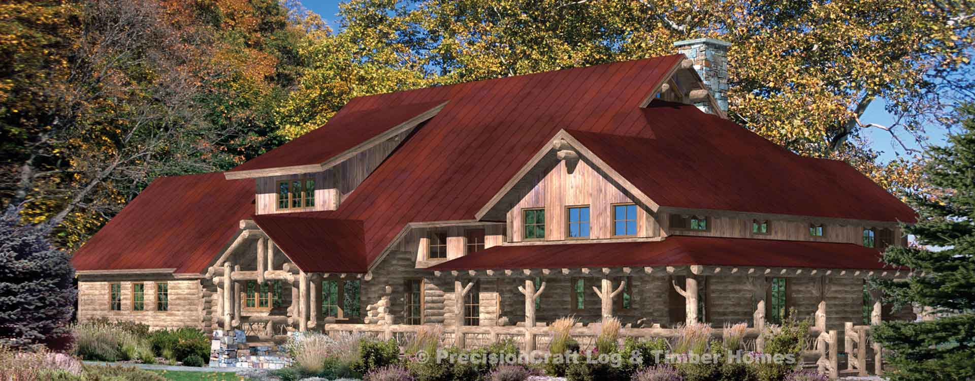 Saratoga Log Home Plan