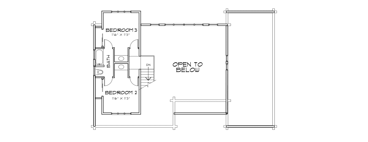 Saratoga Second Floor Plan
