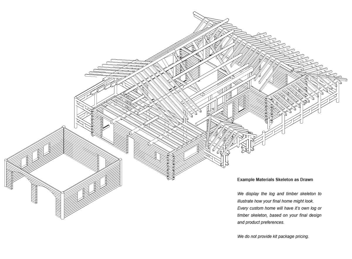 Saratoga | Log Home Floor Plan