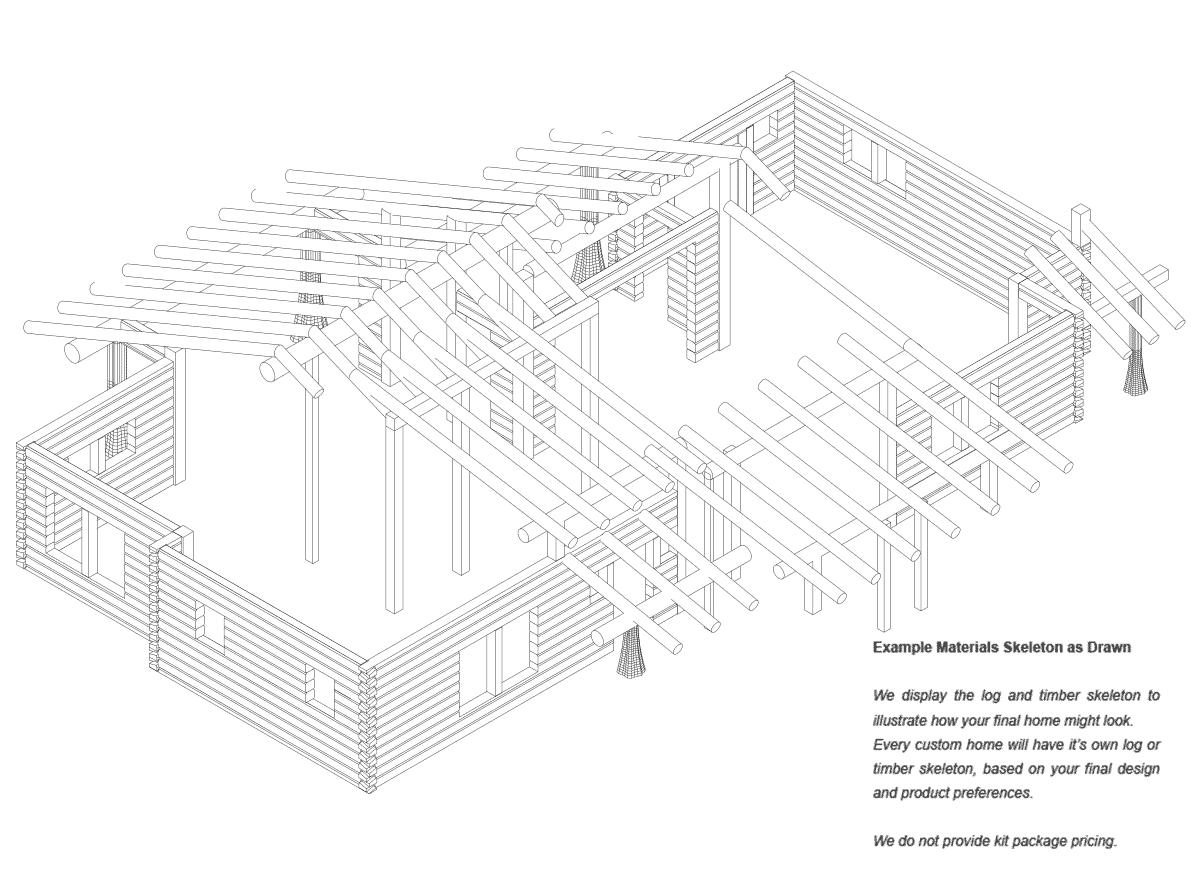 Shenandoah | Log Home Floor Plan