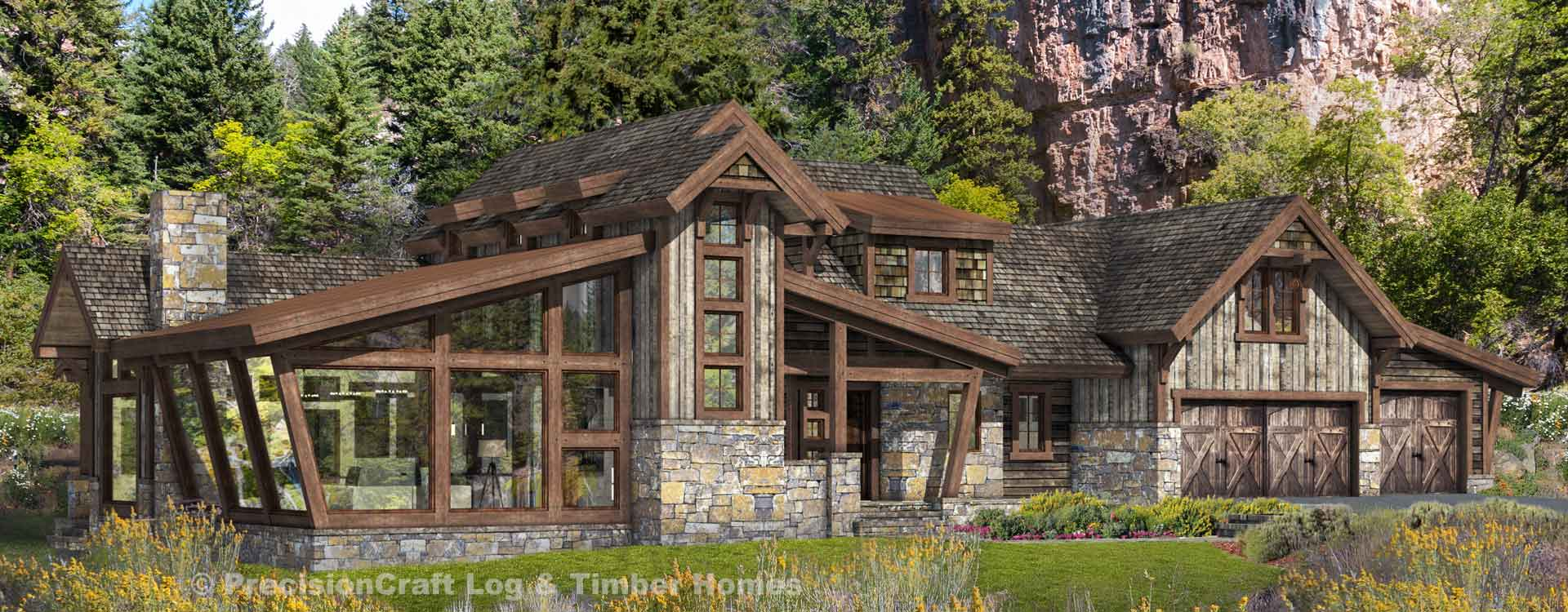 Silverton Modern Timber Frame Floor Plan