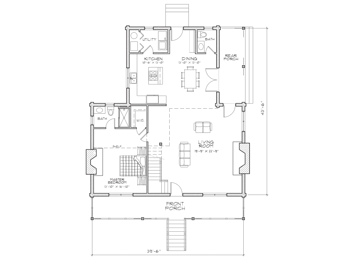 Stone Creek Main Floor Plan