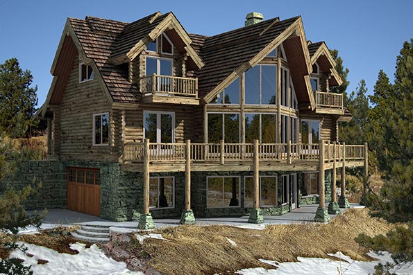 Timber Home Plans - By PrecisionCraft