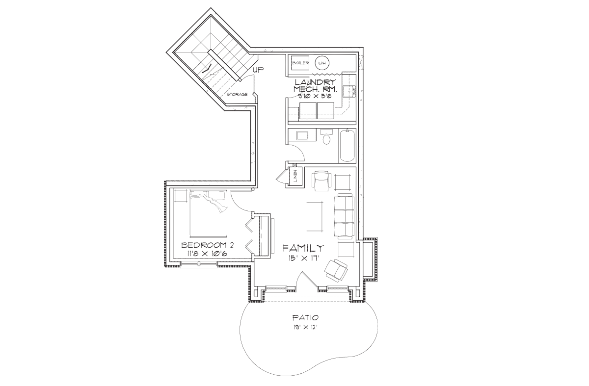 Targhee Basement Floor Plan