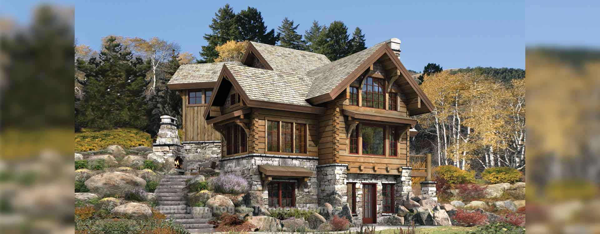 Targhee log home plan for Timber log home plans