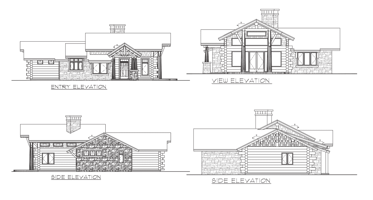 Telluride log home floor plan for Log home plans with cost to build