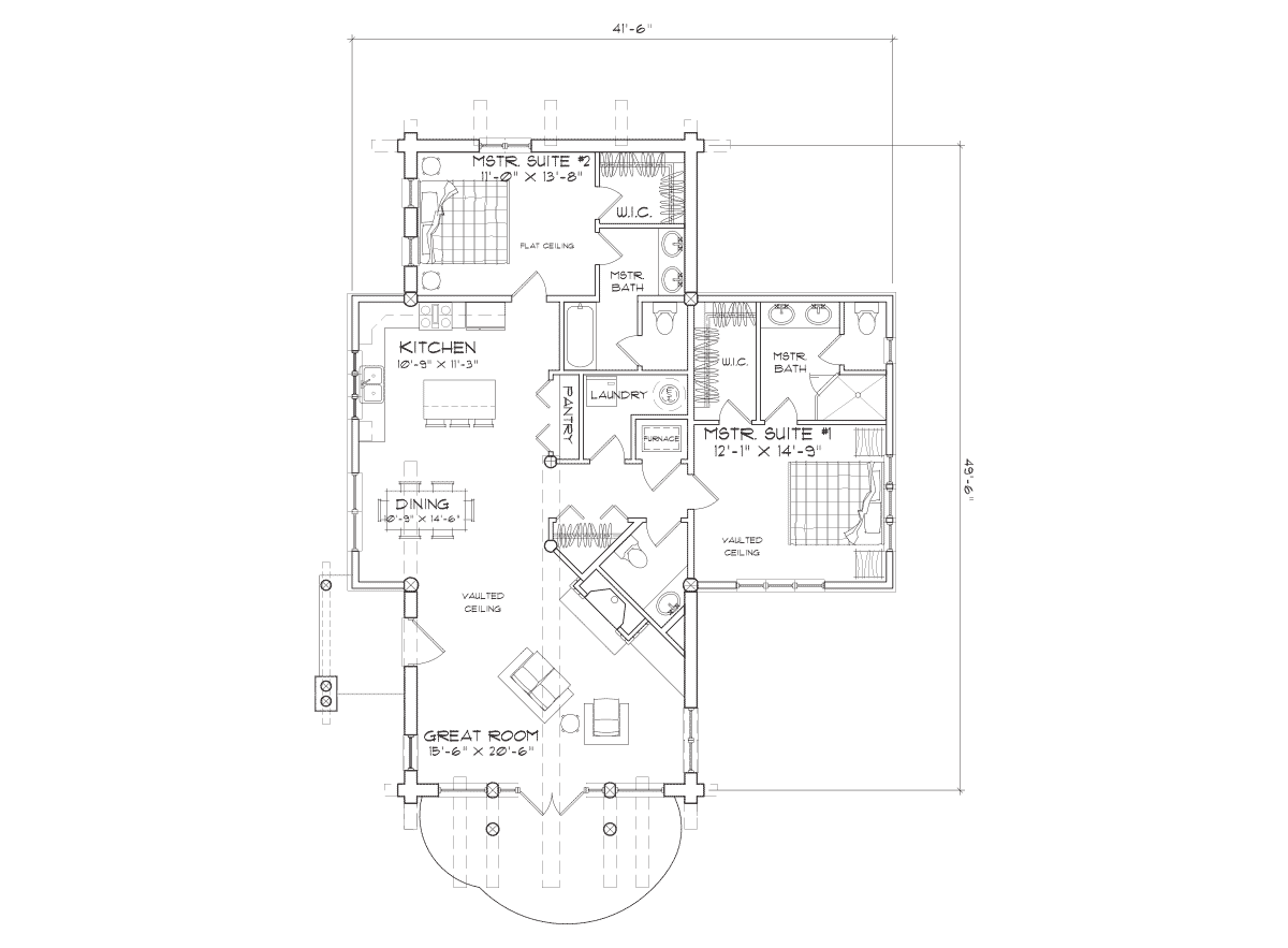 telluride  Main Floor Plan