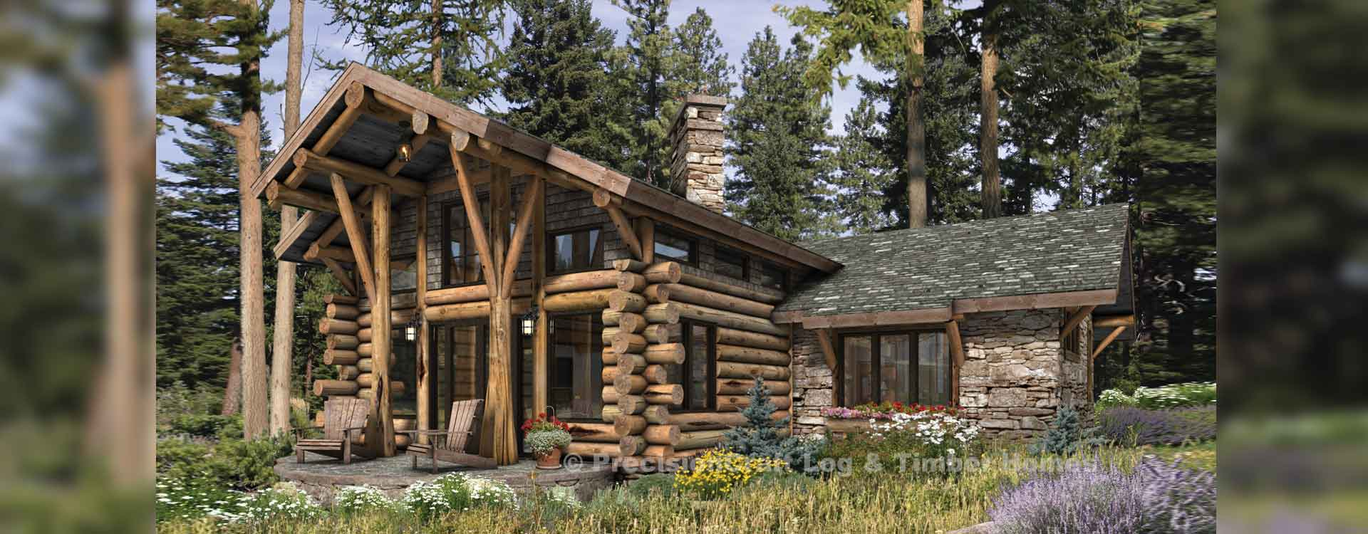 Telluride log home Rendering