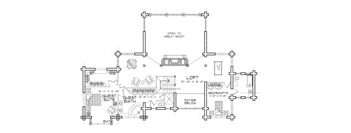 Ticonderoga Second Floor Plan