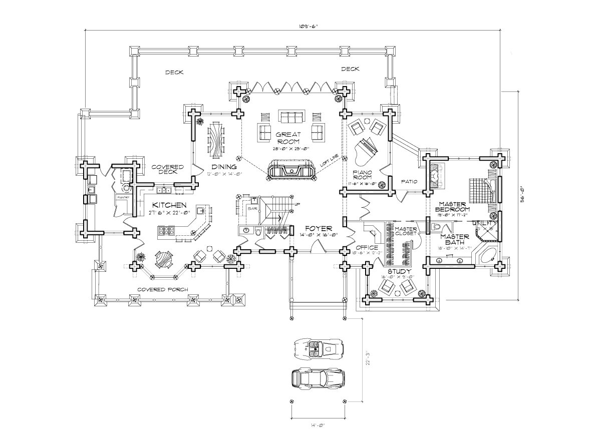 Ticonderoga Main Floor Plan