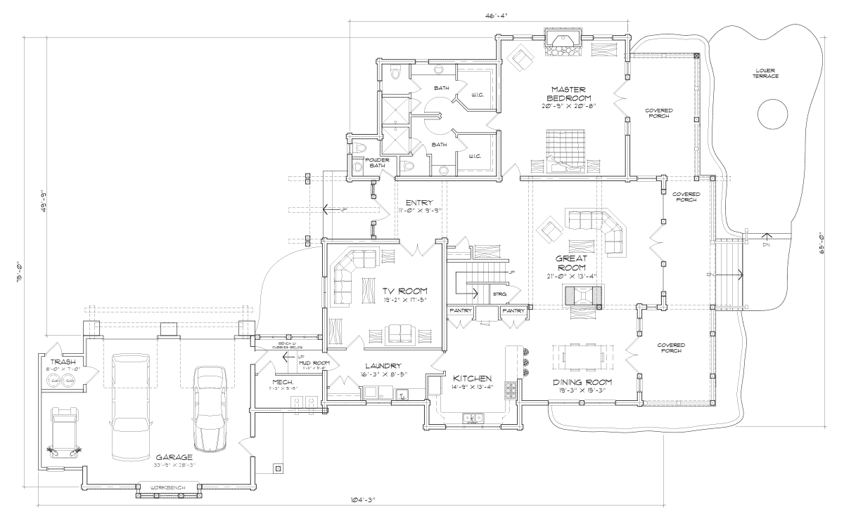 Trailside Main Floor Plan