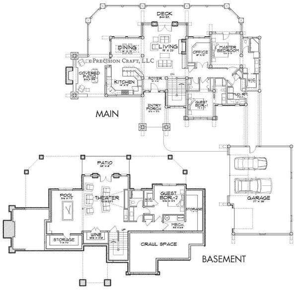 Truckee Client Customization Floor Plan