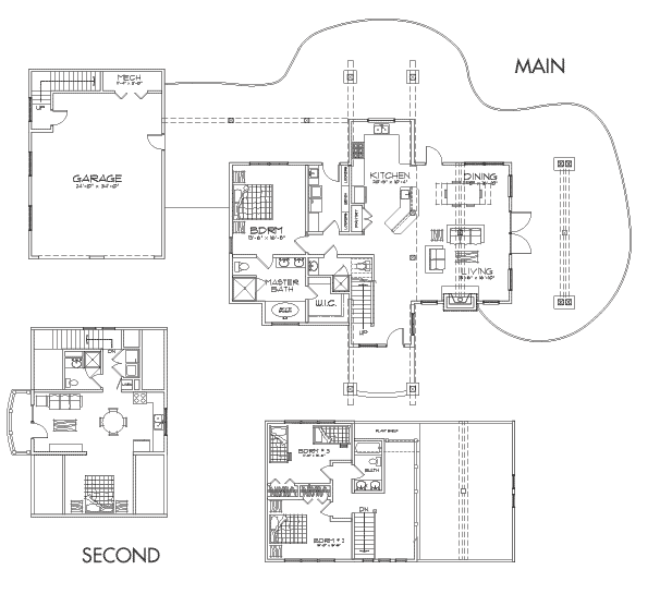 Upland Retreat Client Customization Floor Plan