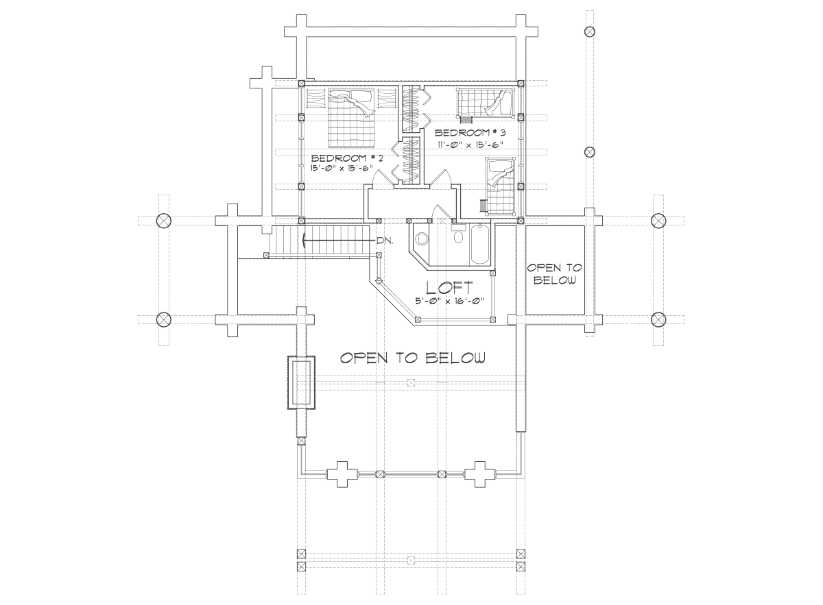 Upland Retreat Second Floor Plan