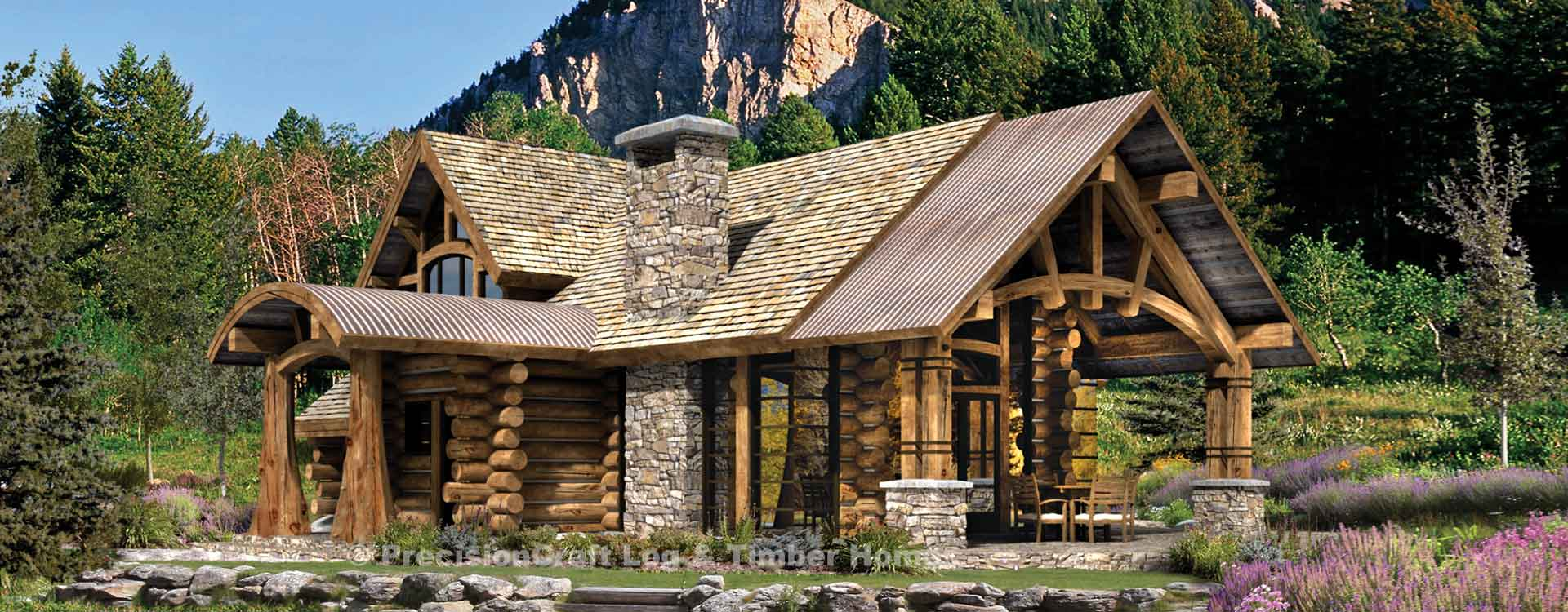 Upland Retreat | Luxury Log Home Plan