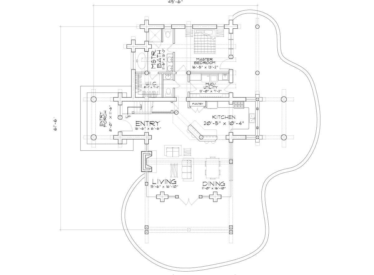 Upland Retreat Main Floor Plan