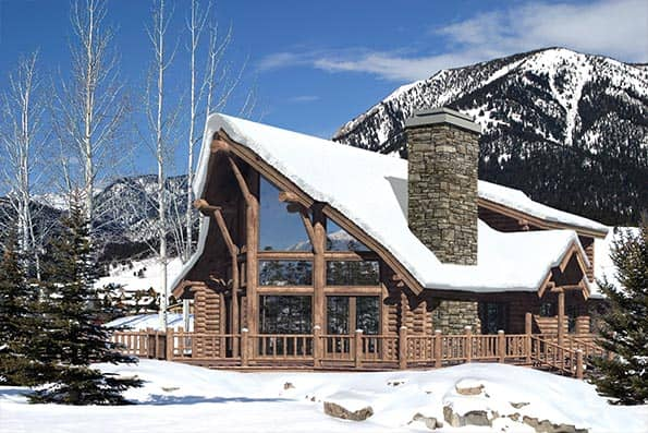 Winterpark milled log home plan