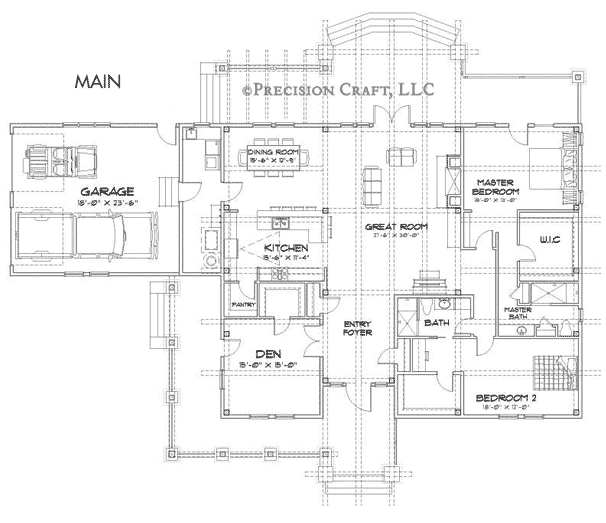 Wood River Timber Frame Floor Plan