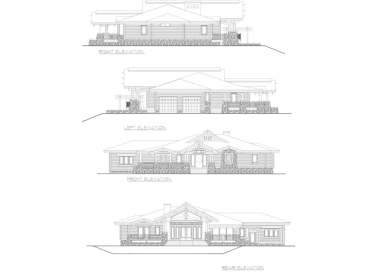 Wood Elevation Ymca : Wood river timber frame floor plan
