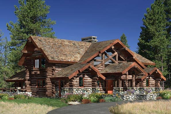 Woodhaven Log Home Plan