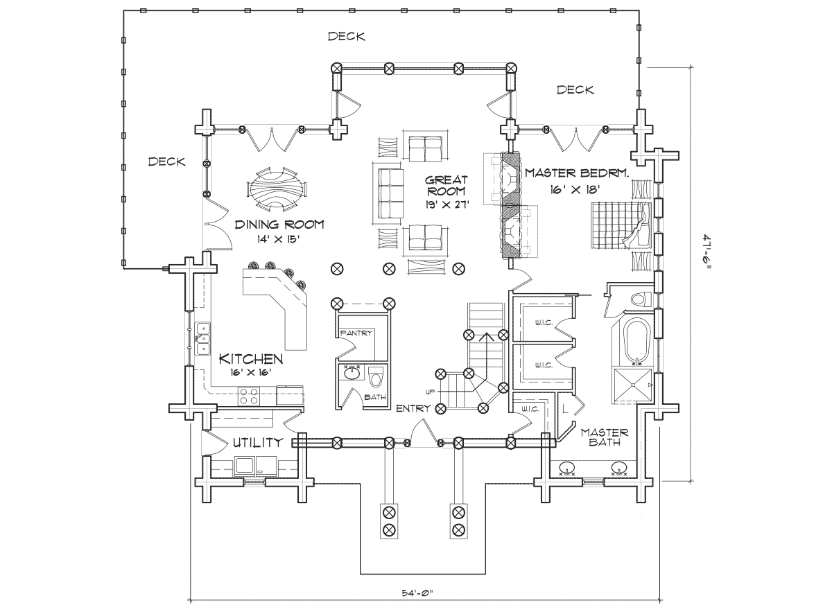 Woodhaven Main Floor Plan