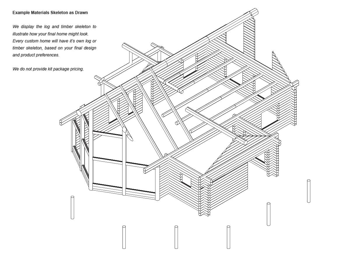 Yellowstone | Log Home Floor Plan