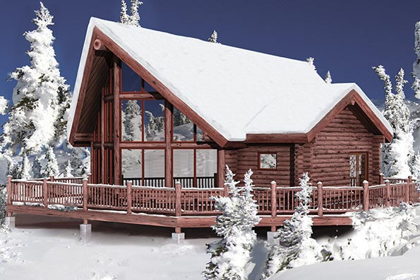 Timber Frame and Log Home Floor Plans By PrecisionCraft – Precision Log Home Floor Plans