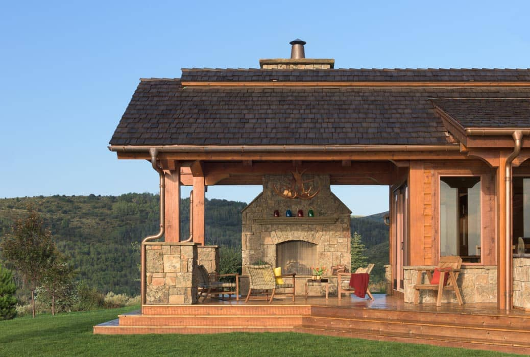 Afton Outdoor Fireplace