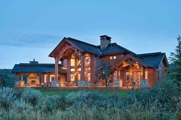 Photo Gallery on Pioneer Log Home Floor Plans