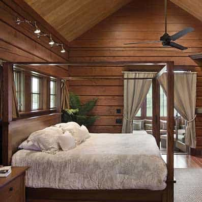 Hybrid Log and Timber Frame Bedroom