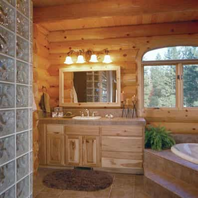 Milled Log Bathroom
