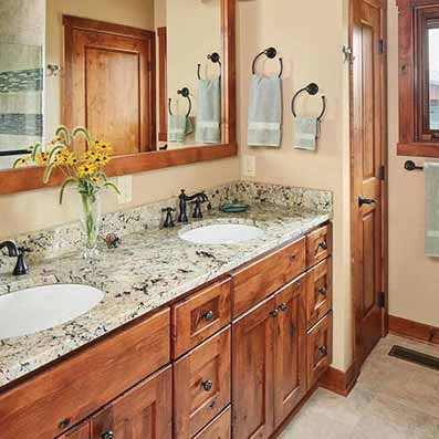 log home Master bath