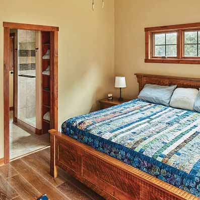log home Master suite